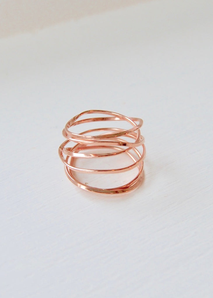 Heorth | Lightly Bound Ring | 6 Strand Rose Gold