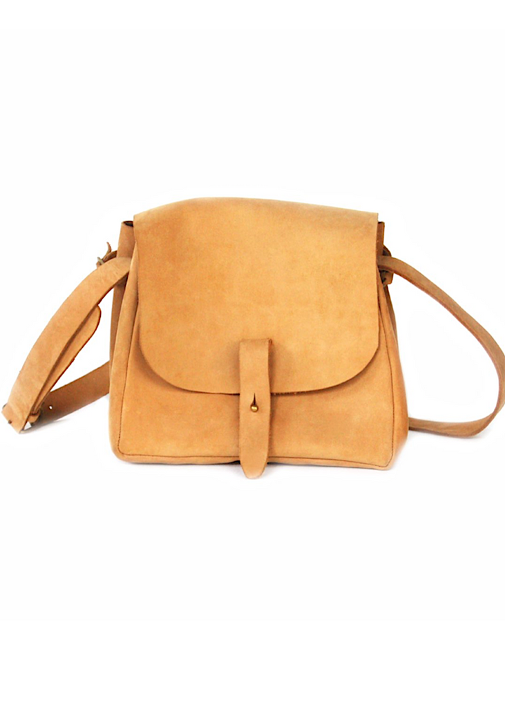 Meyelo | Nubuck Bucket Purse | Tan