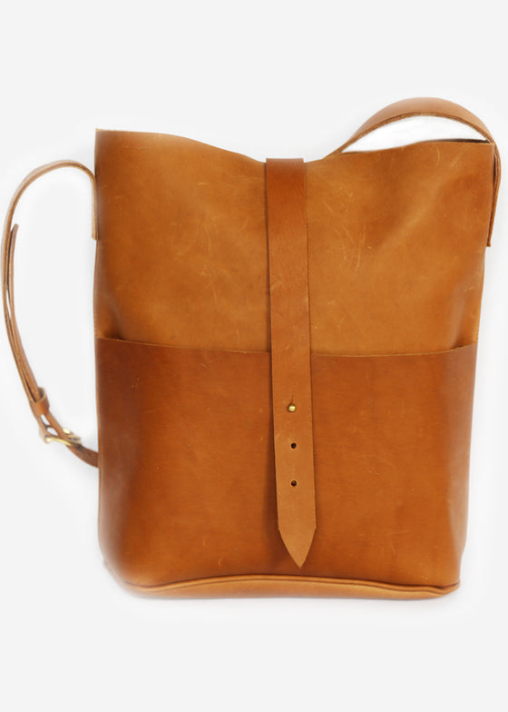 Meyelo | Nubuck Messenger Bag | Natural Tan