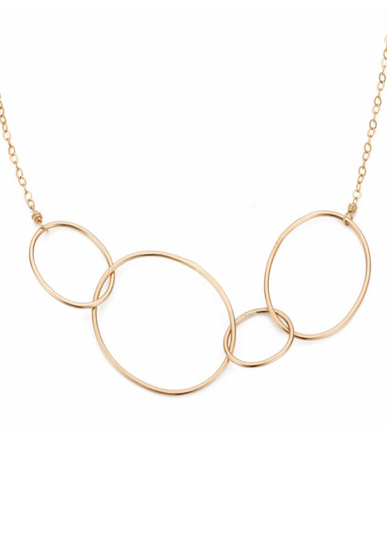 Colleen Mauer | Organic 4 Loop Necklace | Gold