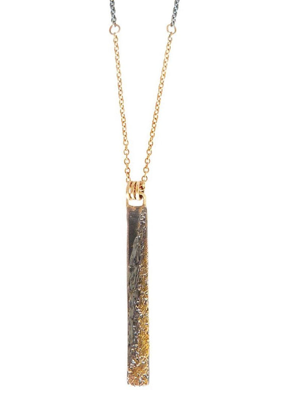Kate Maller | Ravine Necklace | Gold + Oxidized Sterling Silver