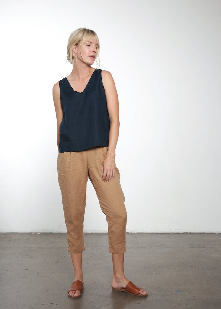 It Is Well | Navy Reversible Linen Tank