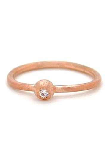 Heorth | Spotlight Ring | 10K Rose Gold Polished + Diamond