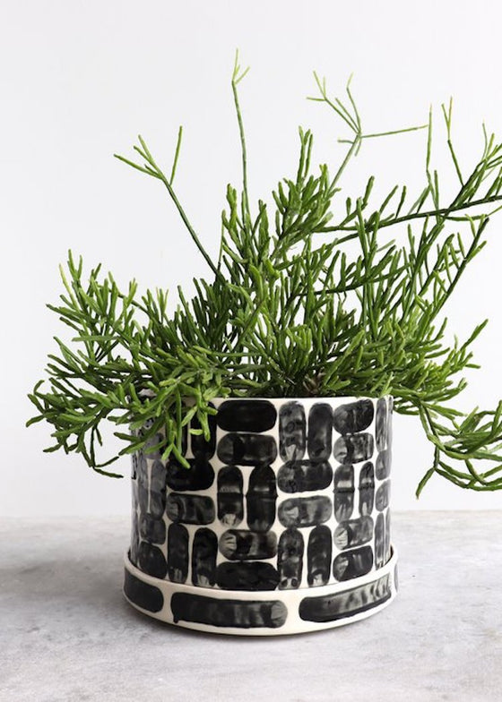 Round Brick Small Planter