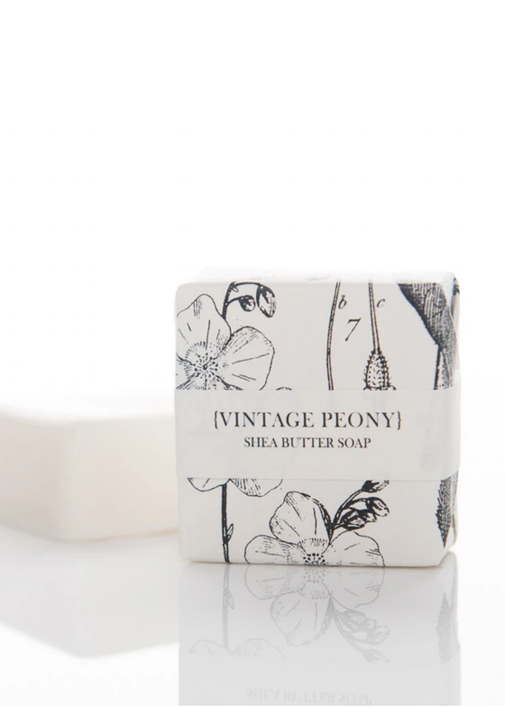 Formulary 55 | Shea Butter Petite Soap | Vintage Peony Guest Bar