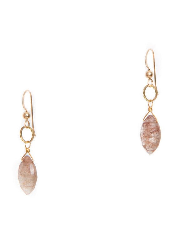 Hailey Gerrits | Sidra | Copper Rutilated Quartz Earrings