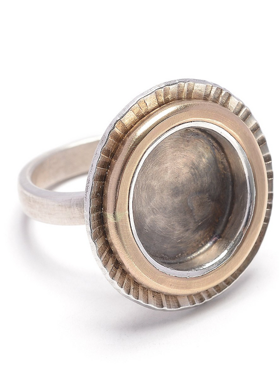 J&I Jewelry | Sun Ring | Sterling Silver + 14K Gold-Filled