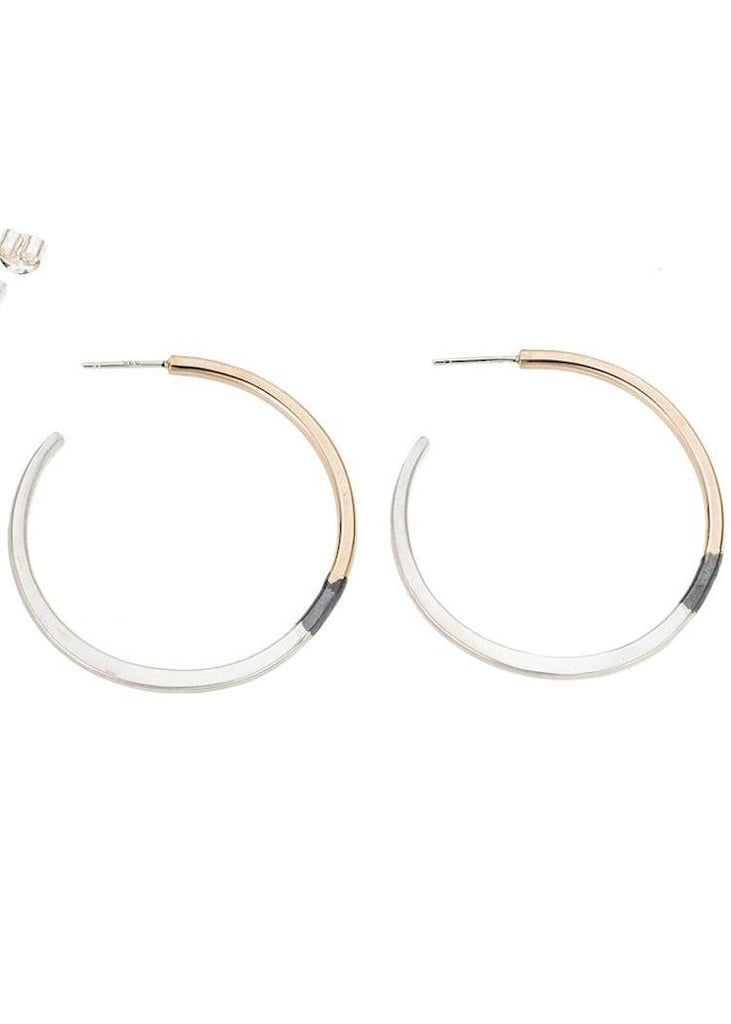 Colleen Mauer | Tri-Toned Classic Hoop Earrings