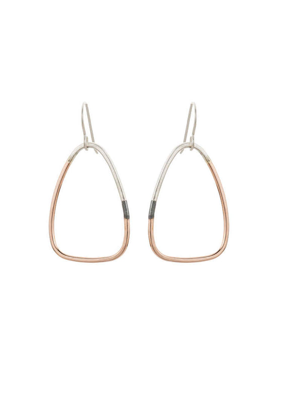 Colleen Mauer | Tri-Toned Triad Earrings