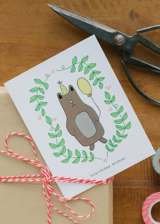 Bearthday Wishes Card