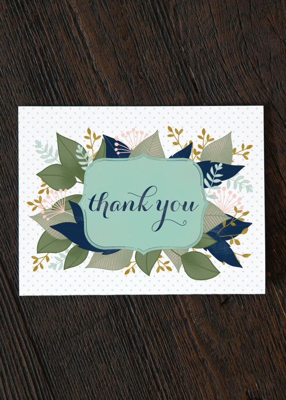 Florals Thank You Card