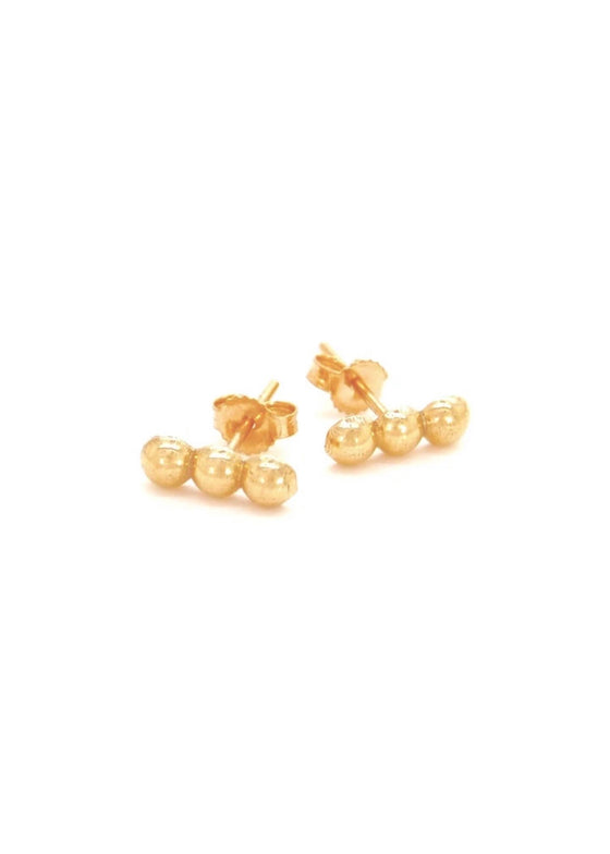 Heorth | Holding Space Stud Earrings | 18K Gold