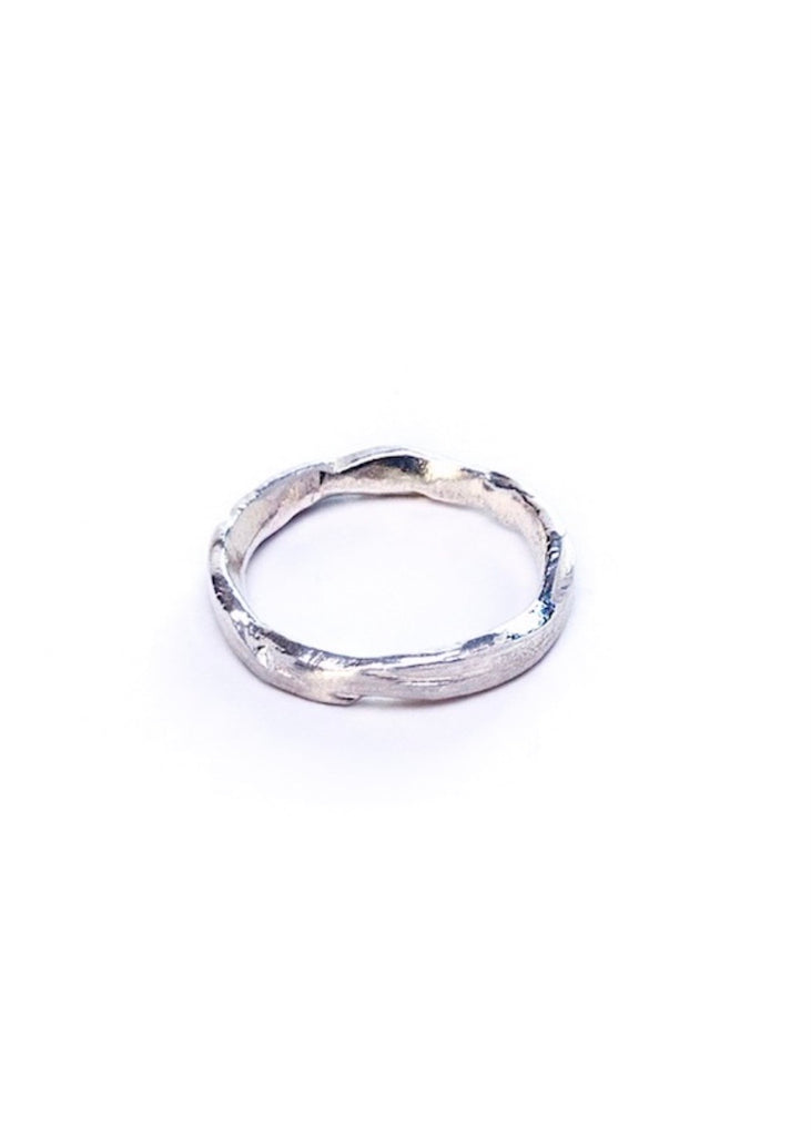 Heorth | Earth Stacking Ring | Sterling Silver