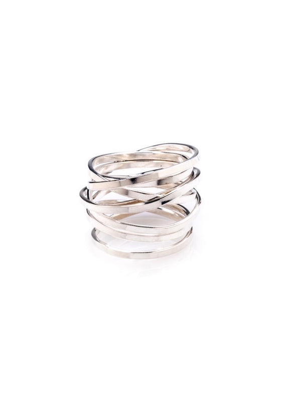 Heorth | Bound Ring | 7 Strand Silver