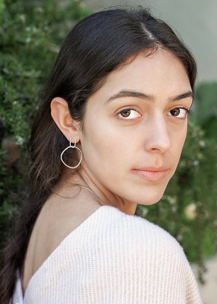 Colleen Mauer Designs | Interlocking Rectangle + Square Post Earrings