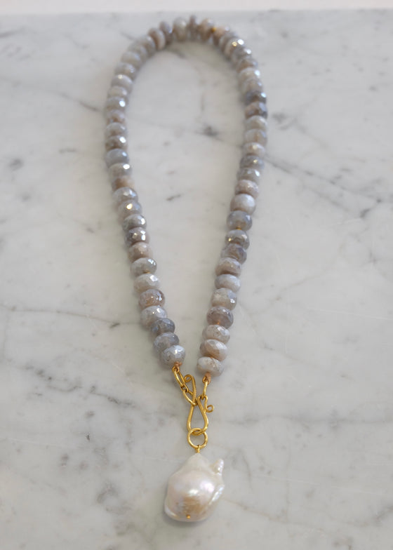 Lena Skadegard | Silverite Necklace with Pearl Pendant