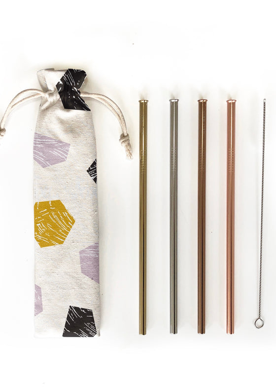 Eco-Friendly Reusable Straw Set