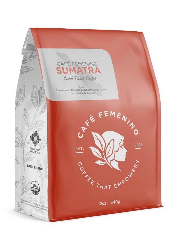 Café Femenino | Organic Fair Trade Sumatra Whole Bean Coffee