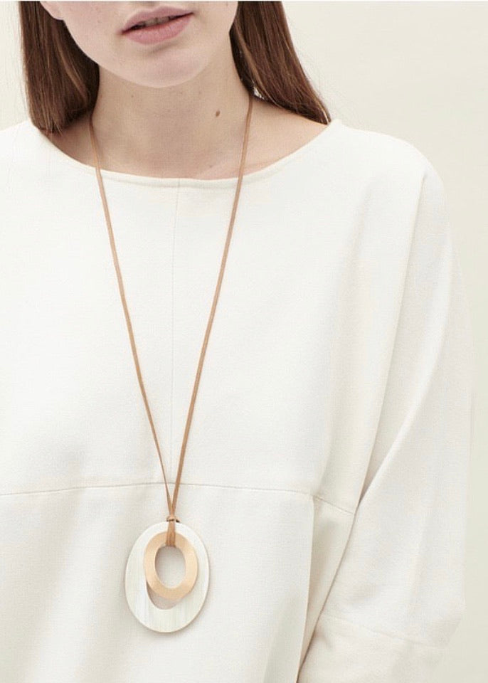 CATH•S | Bronze + Horn Ovals Necklace