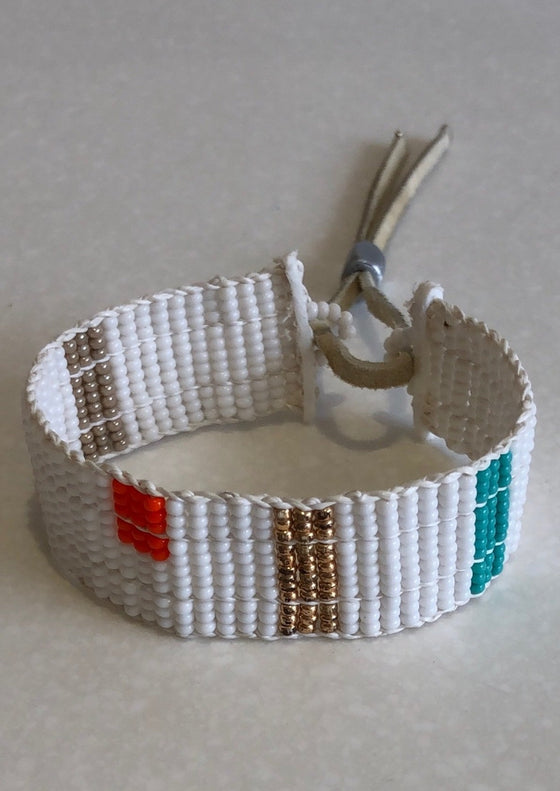 Narrow Warrior Block Color Bracelet