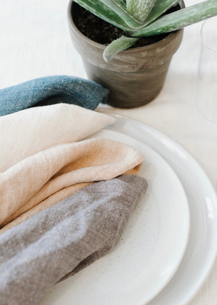 Stonewashed Linen Dinner Napkin