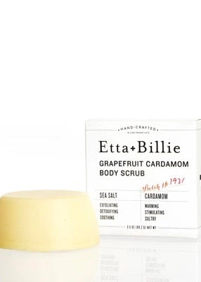 Grapefruit Cardamom Sea Salt Body Scrub Bar