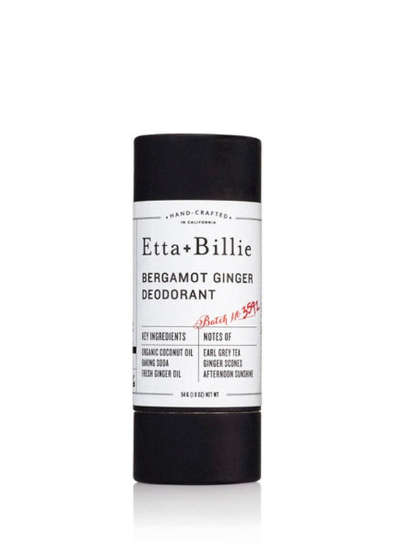 Bergamot Ginger Natural Deodorant in Paperboard Tube