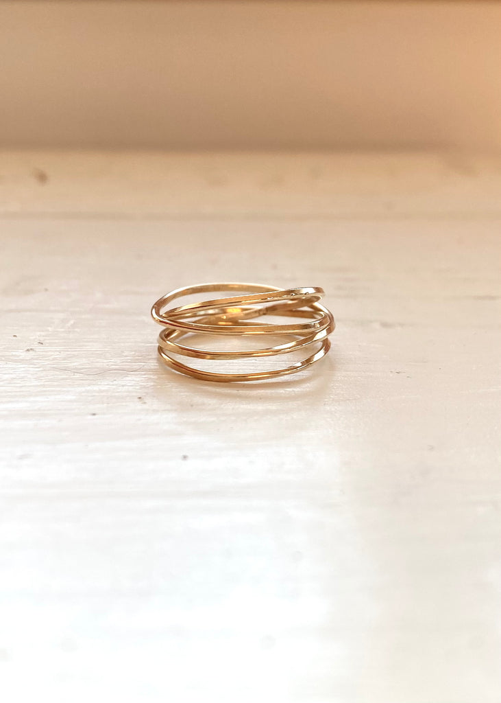 Heorth | Lightly Bound Ring | 4 Strand Yellow Gold