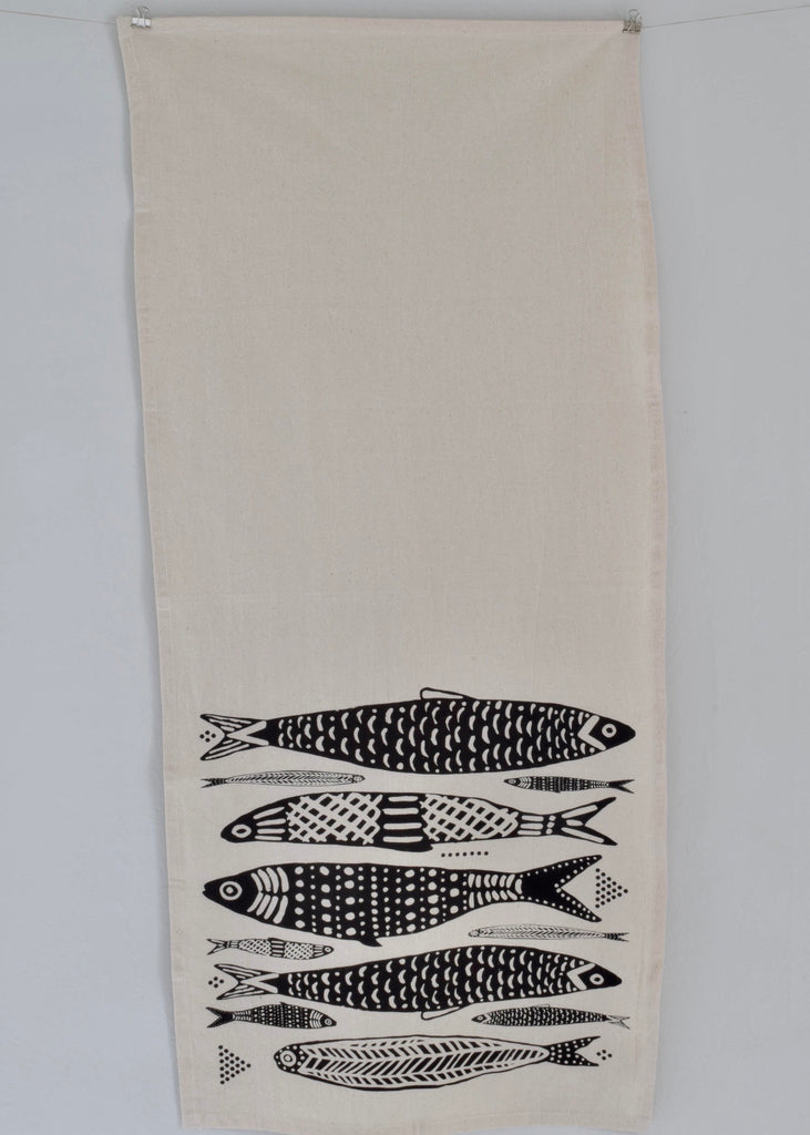 Organic Cotton Tea Towel | Sardines