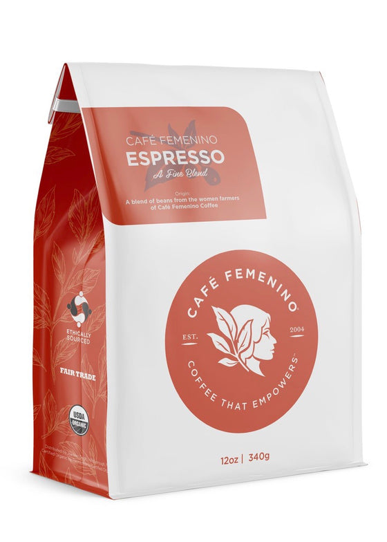 Café Femenino | Organic Fair Trade Espresso Whole Bean Coffee