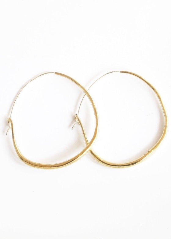 Marisa Mason | Natural Hoop Earrings Brass