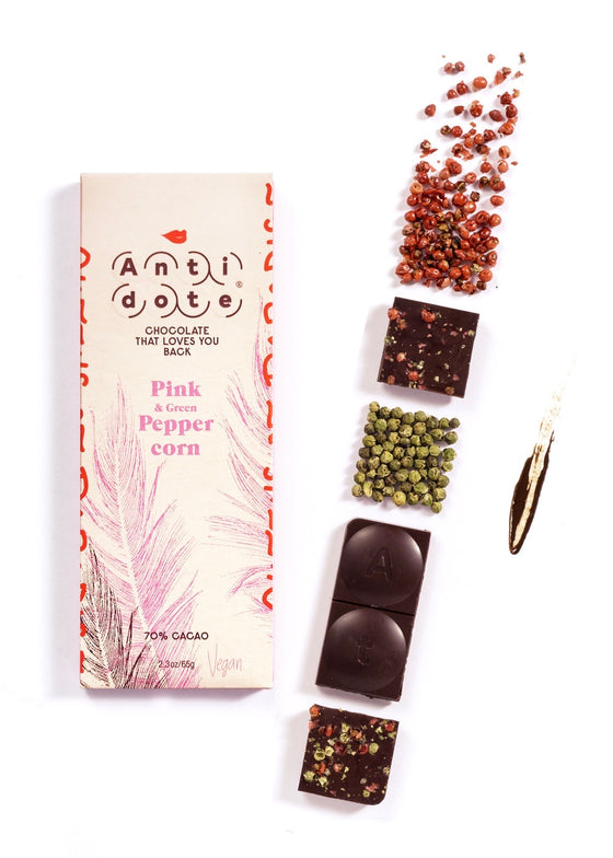 Antidote Chocolate | Pink + Green Peppercorn