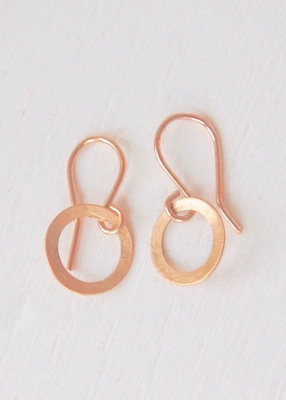 Heorth | Evolve Circle Earrings | X-Small 18K Gold