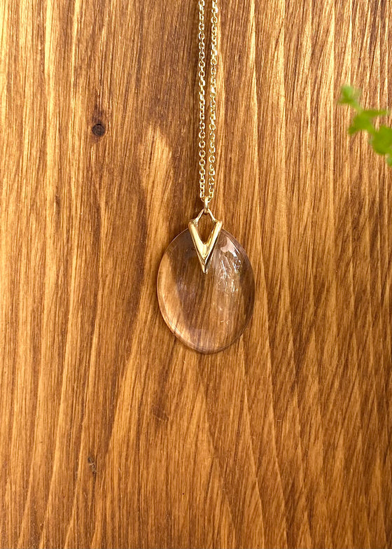 Rachel Atherley | Medium Lily Pad Pendant in Quartz + 14kg