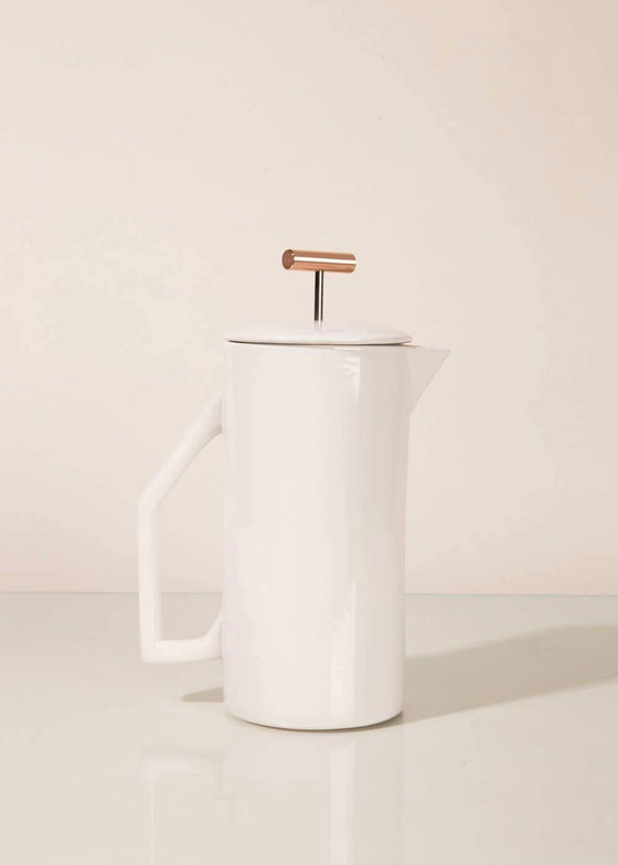 Yield | Ceramic French Press | Cream