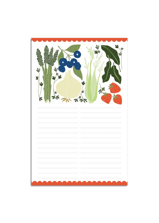 Hazelmade | Large Notepad Fruits + Veggie