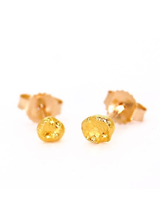 Heorth | Seed Stud Earring | 24K Gold Small