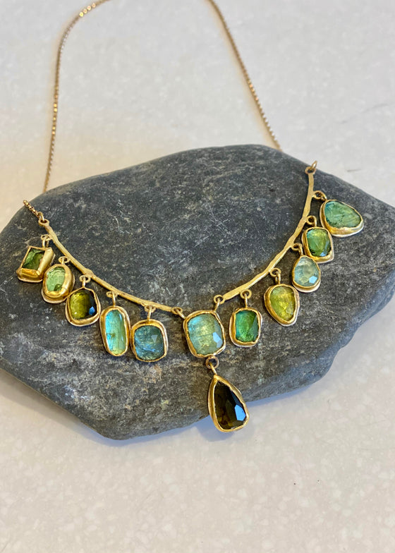 Jessica Weiss | Rose-Cut Tourmaline + Gold Necklace