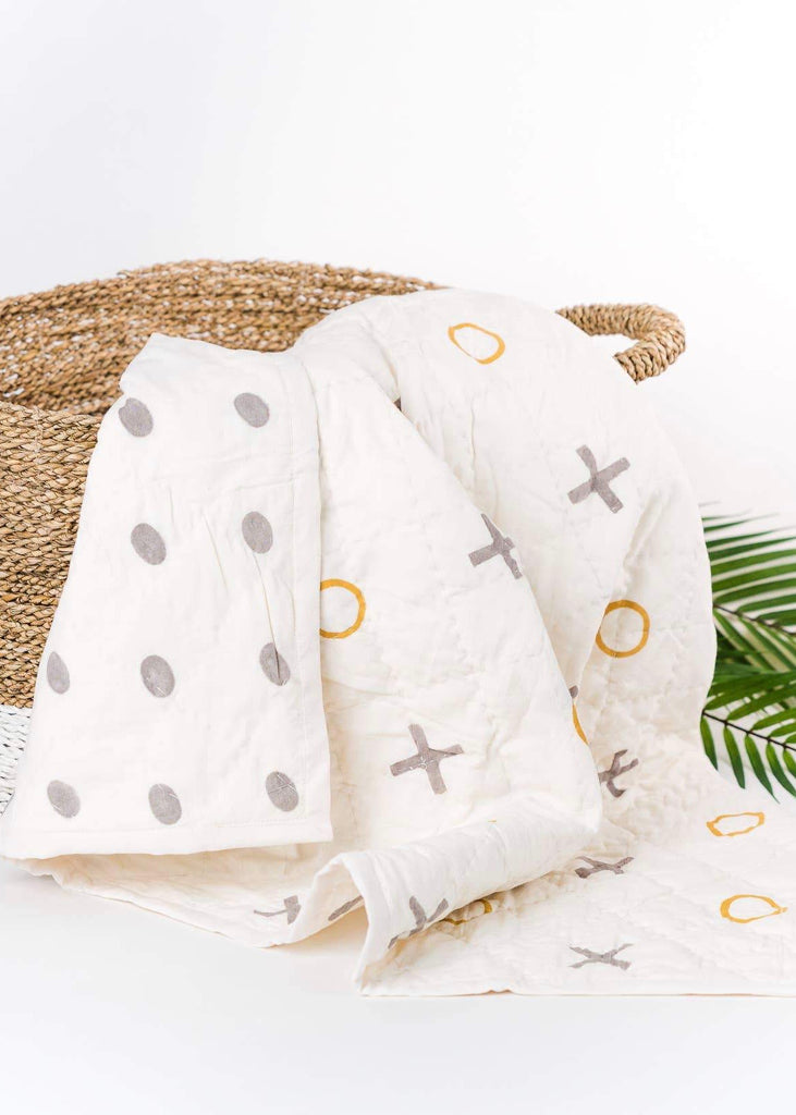 Baby Blanket | 100% Organic Cotton & Natural Plant Dyes  X's + O's
