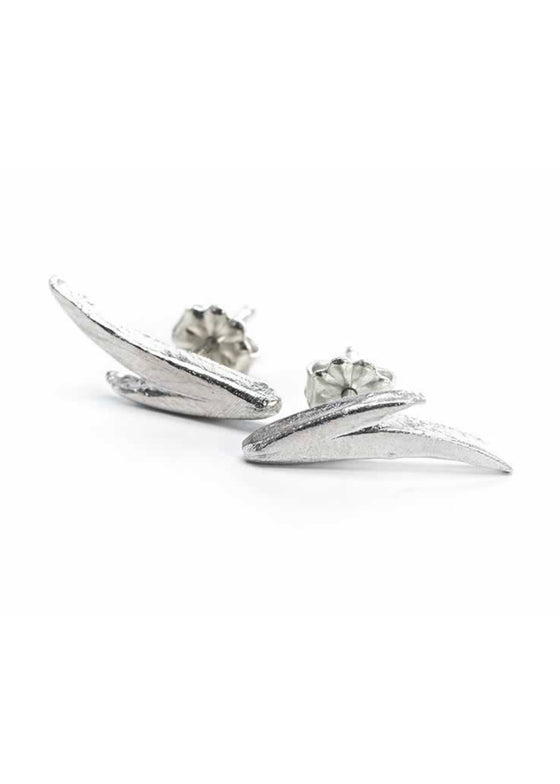 Heorth | Fire Stud Earring | Silver
