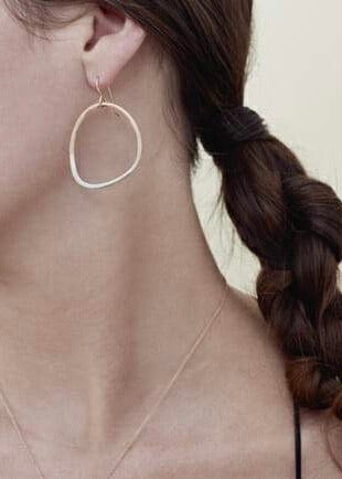 Colleen Mauer Designs | Gold + Silver Stone Earrings