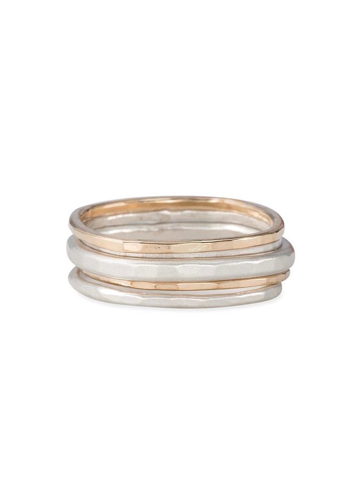 Colleen Mauer Designs | 5 Stack Round Rings
