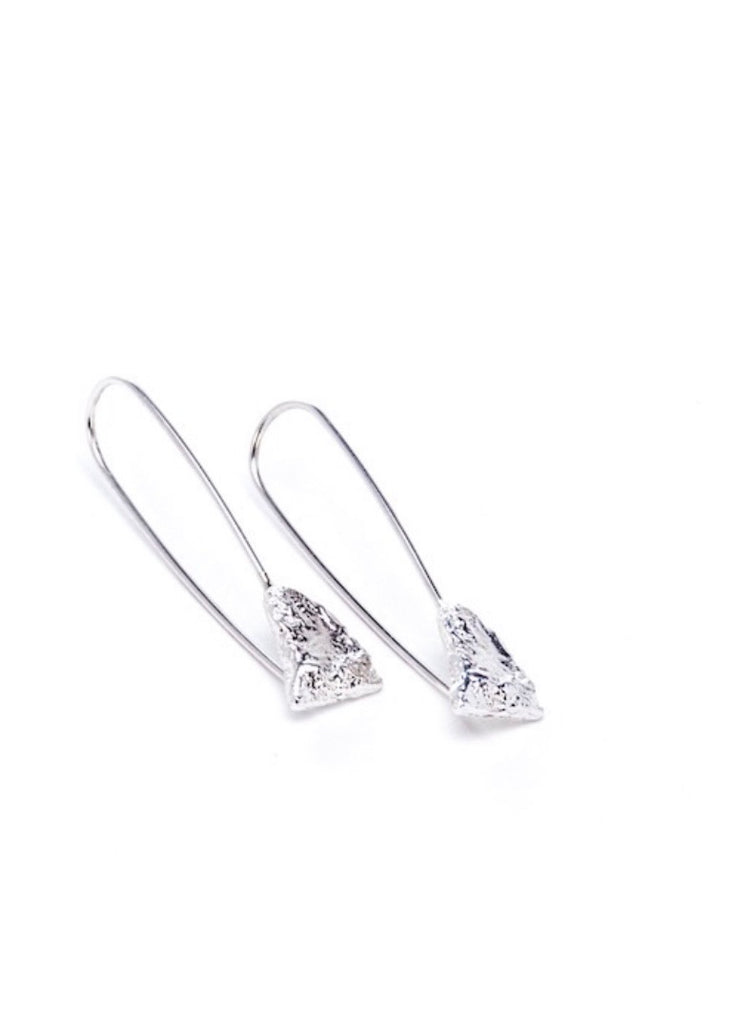 Heorth | Earth Drop Earring | Silver