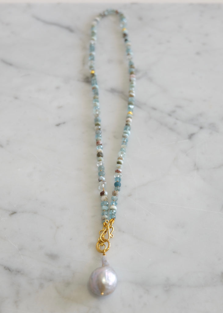 Lena Skadegard |  Larimar + Aquamarine Necklace