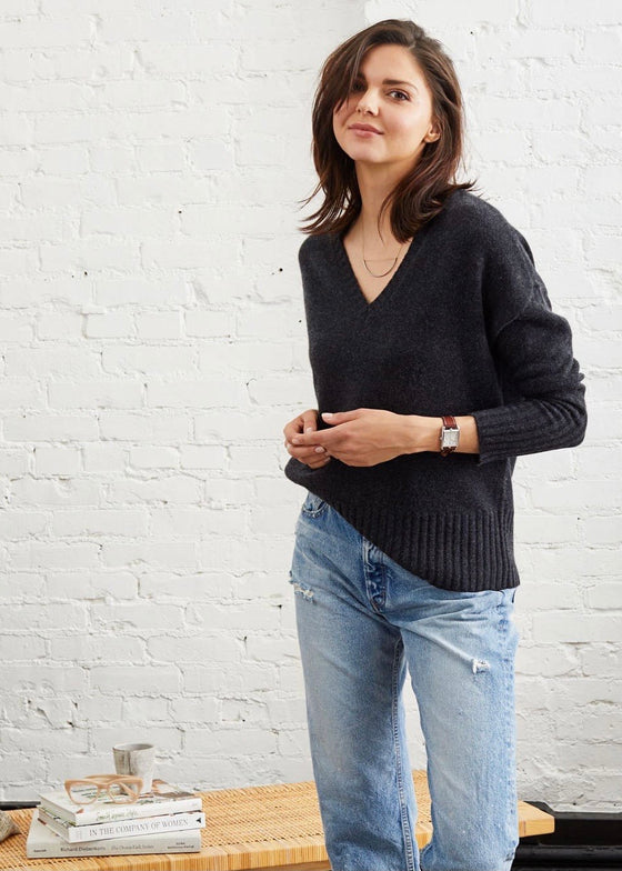 Not Monday | Ella Cashmere V-Neck Sweater