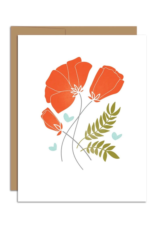HAZELMADE | Card Red Poppies