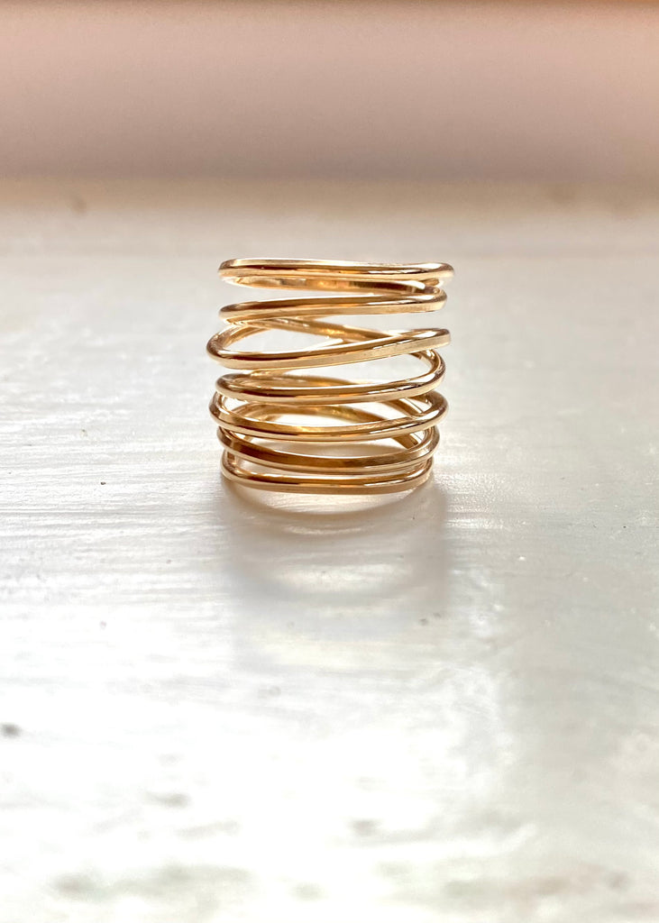 Heorth | Bound Ring | 7 Strand Yellow Gold