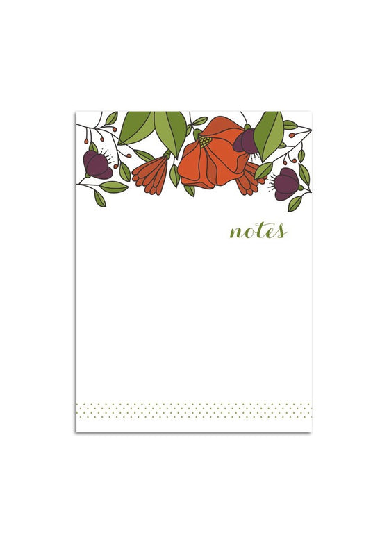 Hazelmade | Small Notepad Red Florals