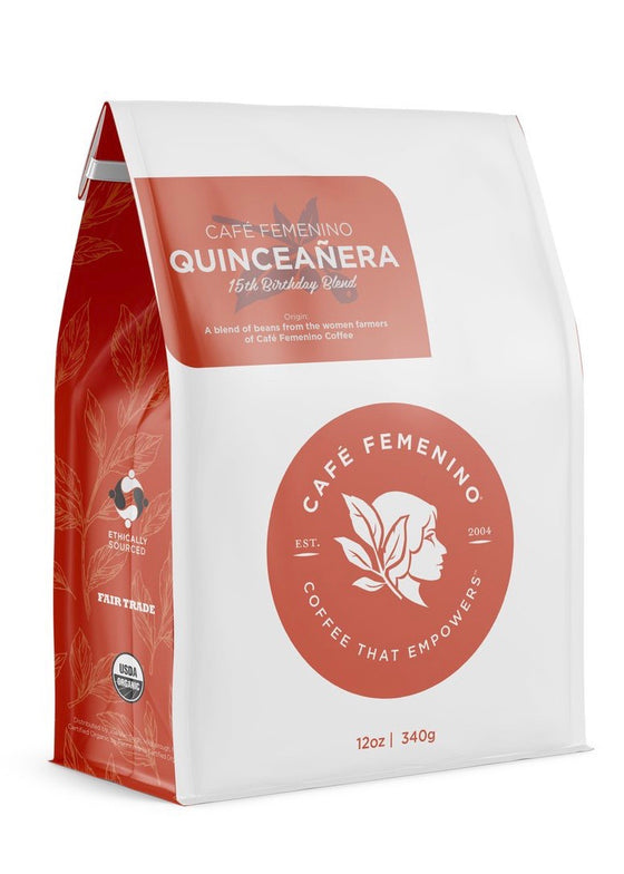 Café Femenino | Organic Fair Trade Quinceanera Blend Whole Bean Coffee