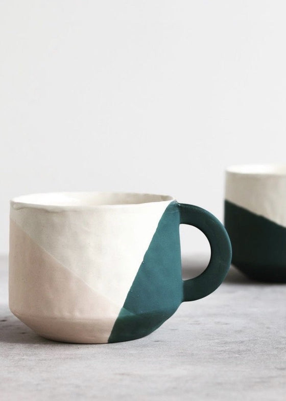 Elizabeth Benotti | Ebb & Flow Three Toned Mug | Deep Ocean